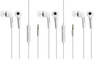 Original Samsung Kopfhörer 3 er Set, Kopfhörer In Ear Headset mit Anrufannahme Taste und Lautstärke Regler satte Bässe Stereo Sound EHS64AVFWE Bulk