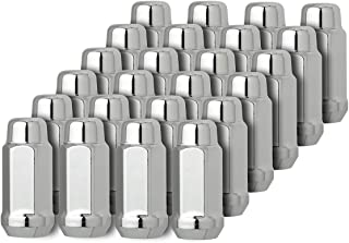 DPAccessories D3318-2305/24 24 Chrome 14x1.5 Closed End XL Bulge Acorn Lug Nuts for Custom Wheels Wheel Lug Nut