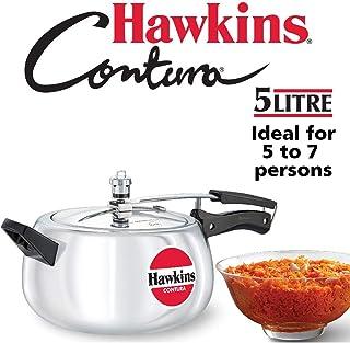 Hawkins HC50 Contura 5-Liter Pressure Cooker, Small, Aluminum