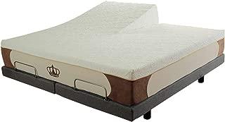 DynastyMattress New Cool Breeze 12-Inch HD Gel Memory Foam Mattress for Adjustable Beds (Split Head King)