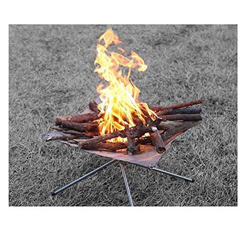 SYSI Outdoor Garten Tragar Faltbar Feuerschale Feuerstelle