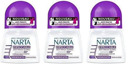 Narta - Déodorant Femme Bille Anti-Transpirant Impeccable Efficacité 48h - 50 ml - Pack of 3