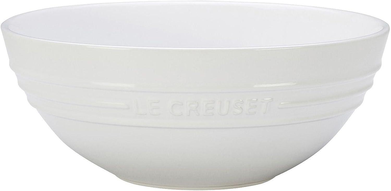 Le Over item handling ☆ Creuset Stoneware Large Multi White Bowl 3.1 Max 50% OFF qt.