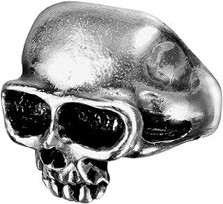 Alchemy Gothic 英国A牌 死亡戒指 Death Ring 英国925白锡骷髅戒指 R6 (N-戒内围5.4cm 15号圈)