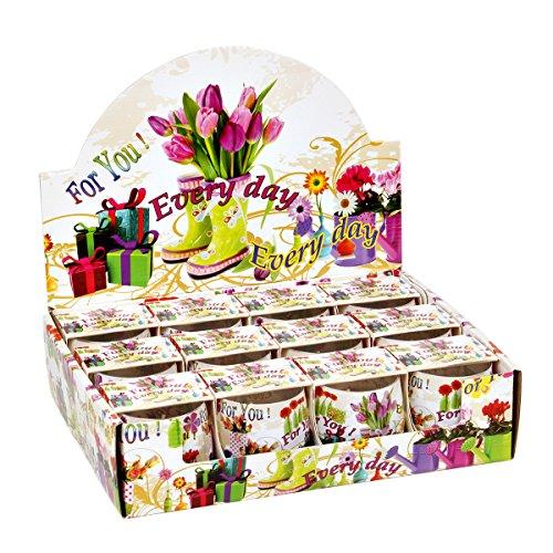 Lot de 12 Bougie parfumée dans verre 82 x 90 mm Bougie Senteur for you Parfum fleuri