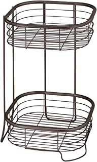 iDesign Forma Free Standing Bathroom or Shower Storage Shelves for Towels, Soap, Shampoo, Lotion, Accessories - 2 Tier, Bronze