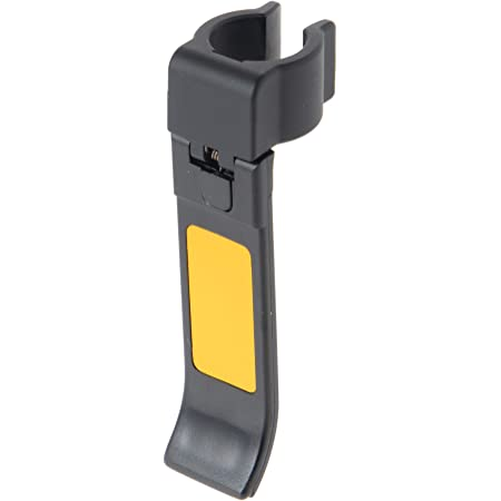 ストリックスデザイン 杖ホルダー ステッキ楽かけ 日本製 ブラック 黒 直径19~22mm対応 取り付け簡単 片手で掛けられる 反射テープ付き すべり止め付き ステッキホルダー 杖掛け KN-330