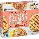 Evaxo Wild Caught Alaskan Salmon Burgers, Frozen (2 lbs., 8 ct.)