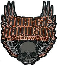 Harley-Davidson Gothic Winged Skull Embroidered Emblem, 3XL Size Patch EM108307
