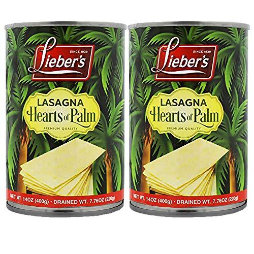 Lieber's Hearts of Palm Lasagna, Kosher, Gluten free, Vegan 14 Oz (2 Pack)