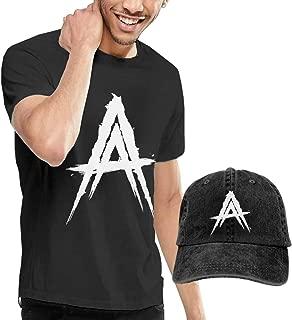 vikkk Anuel-AA Hombres Cómoda Camiseta Sombrero Combinación Negro