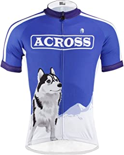 PaladinSport Women's Short Sleeve Cycling Apparel Top Sled Dogs 100% Polyester Size S-6XL