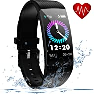 Fitness Tracker, Activity Tracker with Heart Rate Monitor, 1.14 inch Fitness Watch with Sleep...