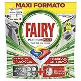 Fairy Platinum Plus 56 Pastiglie Per Lavastoviglie, Detersivo in Confezione Maxi Formato d...
