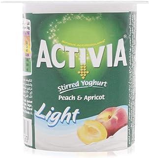 Activia Peach & Apricot Light Yoghurt - 120 gram