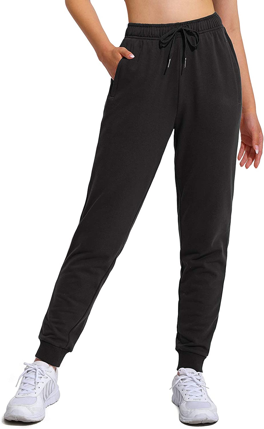 Mail order cheap WALK FIELD Cotton Sweatpants for with Women Pockets Zipper Tucson Mall Draws
