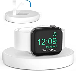 SOKUSIN for Apple Watch Charger Stand - Portable Watch Charging Station Cable Management, Compatible with Apple Watch Series 7/6/SE/5/4/3/2/1 (45 44 42 41 40 38mm), Travel Dock Holder for iWatch