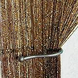 Curtain String Door Beads Room Divider Fringe Beaded Tassel Crystal Window Panel-String Curtain for Doorway-Door Wall Curtains-Curtain Doorway