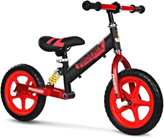 HAIZHEN バランスバイク ペ 調整可能なハンドルバー付き10インチキッズバランスバイクと3?6歳用のペダルなし自転車