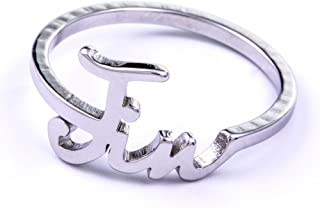 Kpop BTS Bangtan Boys Wanna ONE Member Accessories Titanium Birthday Ring Necklace