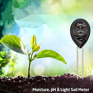 JulyPanny Soil Test Kit pH Moisture Meter Plant Water Light Tester Testing Kits for Garden Plants & Indoor & Outdoor
