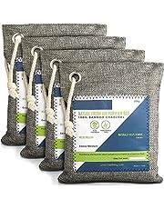 Nature Fresh doftpåsar - luftrenare med aktivt bambukol, luktborttagningspåse för hemmet, luktabsorberare med aktivt kol, lukteliminator, deodorisering för garderob, luftfräschare för bil
