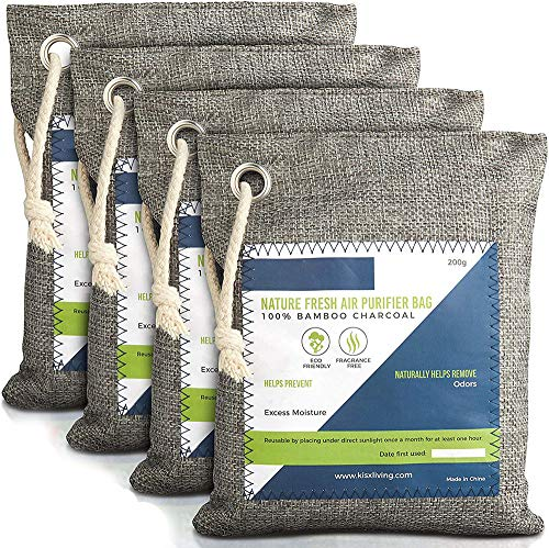 Nature Fresh Air Purifier Bags - Activated Bamboo Charcoal Air Purifying Bag Odor Eliminators For Home, Activated Charcoal Odor Absorber, Odor Eliminator, Closet Deodorizer, Car Air Freshener
