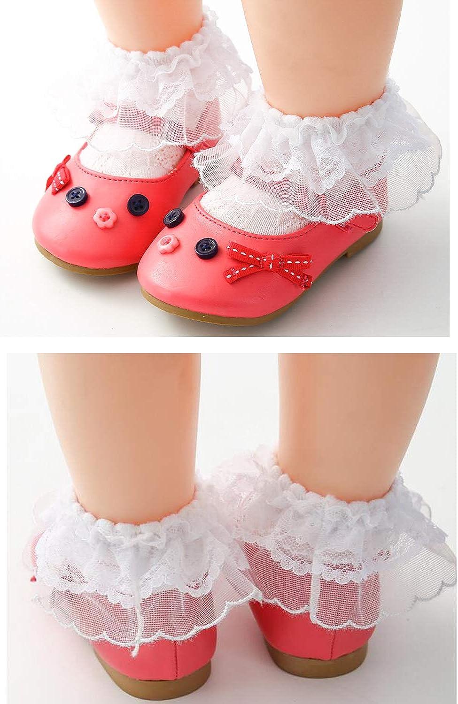 Infant Toddlers New Lace Eyelet Frilly Socks,Ruffle Princess Socks 6m-10y