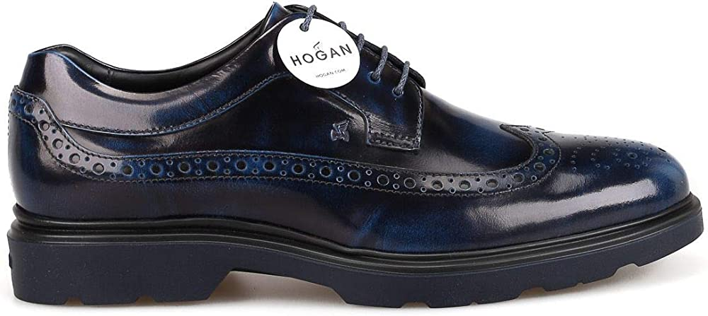 Hogan luxury fashion uomo scarpe stringate in vera pelle HXM3930BX606Q6U607