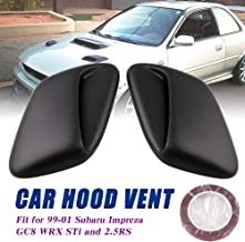 Ruien Car Hood Scoop Air Flow Vent Cover for 99-01 Subaru Impreza GC8 STi WRX 2.5RS (Fully Enclosed Bottom)
