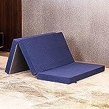 Molblly 4 inch Tri Folding Queen Memory Foam Mattress, Folding Bed Mattress Topper Pad Camping Mattress Play Mattress Portable Guest Bed for Stayover-58X78X4''