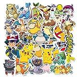 PMSMT 10/30/50 pcs Mignon Pokemon Jouet Enfants Dessin animé Portable Tasse d'eau réfrigérateur Casque téléphone Chariot Cas Autocollant en Gros