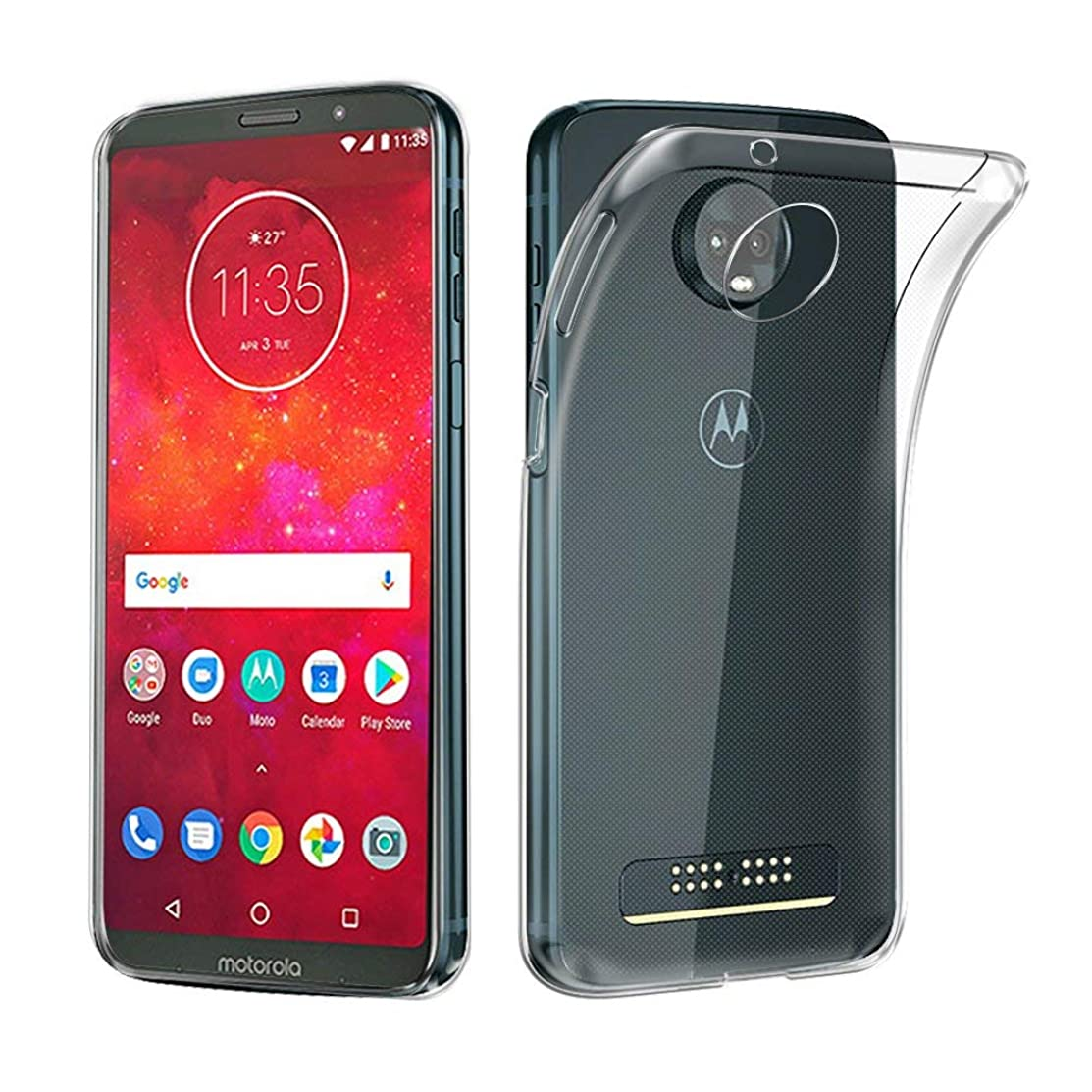 RKINC Case for?Moto Z3 Play?TPU Cover Transparent Ultra Thin, Lightweight, Flexible and Scratch Resistant Silicone Case for?Motorola Moto Z3 Play