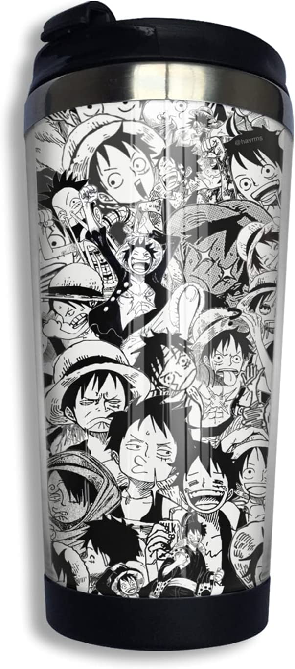 One Piece Monkey D Luffy Cheap sale Anime NEW before selling Coffee Mug Thermos Print Cup 3d F