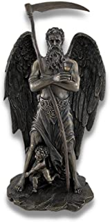 Chronos `Father Time` Standing with Child Playing at His Feet