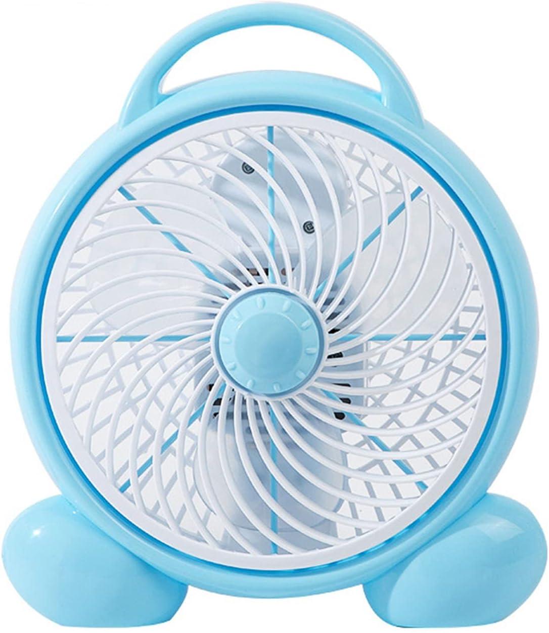 ShenMiDeTieChui Mesa de Ventilador de Escritorio Refrigerador de Aire Enfriador de Aire silencioso silencioso Eco 2 velocidades Ventilador silencioso para la Oficina en casa (Color : Blue)