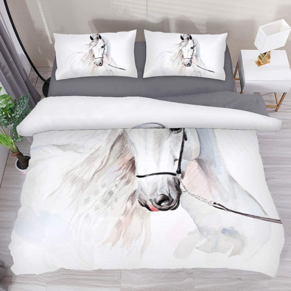 Our shop OFFers the best service 100% At the price Washed Microfiber 3pcs Bedding - Duvet Cover Set Lightweigh