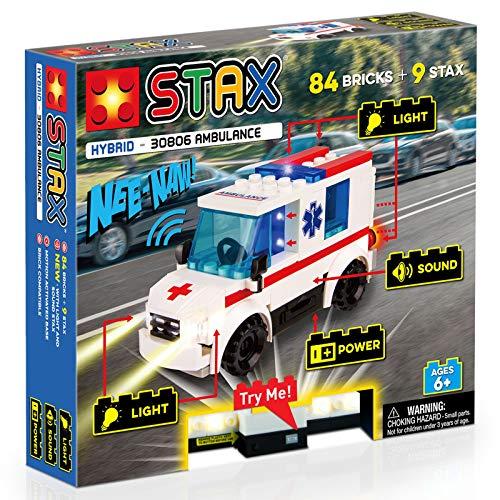 Light Stax 30806 LS-30806 Hybrid Ambulance, kompatibel mit dem STAX System und Allen bekannten Bausteinmarken