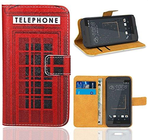 FoneExpert® HTC Desire 530 Handy Tasche, Wallet Hülle Flip Cover Hüllen Etui Ledertasche Lederhülle Premium Schutzhülle für HTC Desire 530