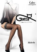 Gatta Michelle 02 - elegante halterlose Strümpfe mit einem modernen gemusterten Abschluss