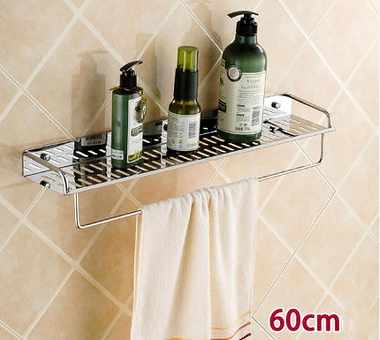 Bathroom Shelf Wall Hanging, 304 Stainless Steel Bathroom Pendant, Kitchen Shelf, Bathroom Shelf (color   60CM)
