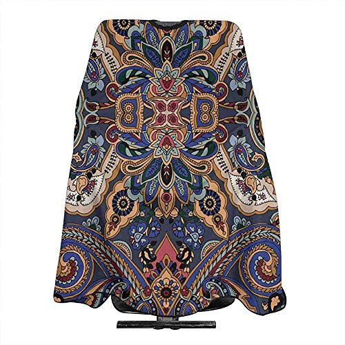 Kapper Schort Paisley Marokkaanse Bloemetjes Slavische Effecten Cosmetologie Supplies Kapsel Cape 140X168Cm Haar Snijden Cover Salon Capes Kappers Schort Barber Supplies