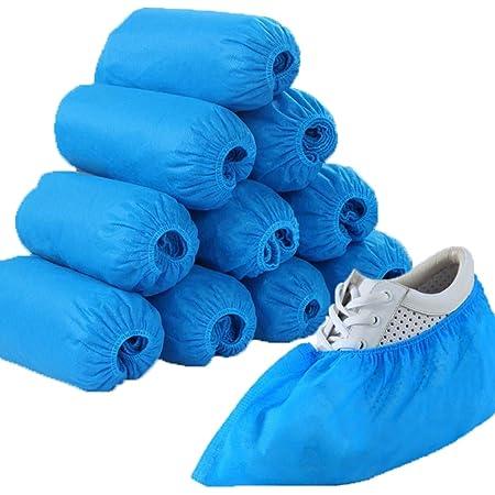 medicinadellavoro.com - 100 Copriscarpe Monouso - Copri scarpe in TNT Impermeabili per Casa, Interno, Esterno| Proteggi Scarpa, Antibatteri e Antipolvere, Taglia Unica - 100 Pezzi