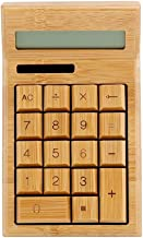 $41 » LYUN Calculator Bamboo Electronic Calculator Counter Standard Function with 12-Digit Display Solar & Battery Dual Powered ...