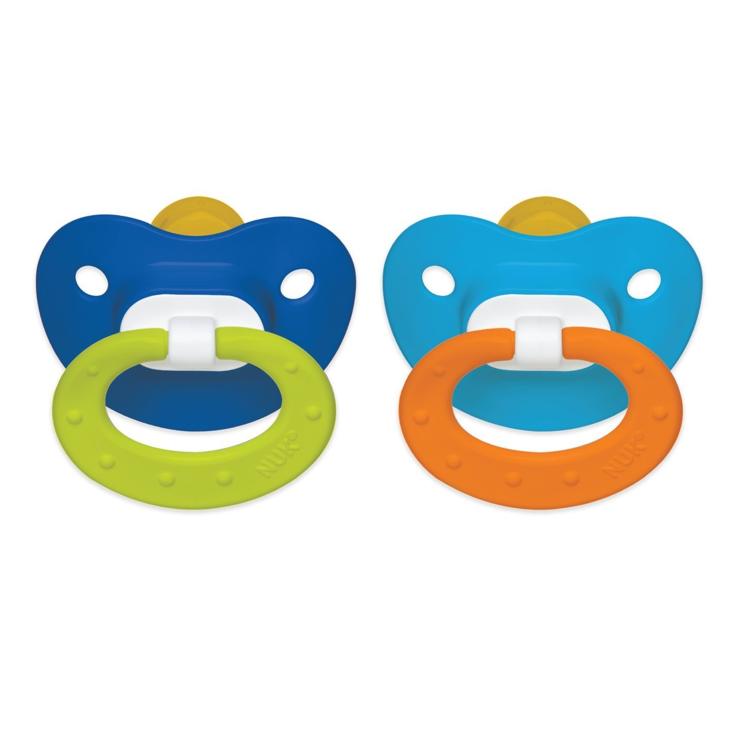 NUK Latex Orthodontic Pacifiers 0-6 Months 2-Pack Boy