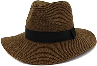 XingKunshop Sun Hat Straw Sunhat for Women Foldable Comfortable Large Brim Summer Beach Outdoor Hat Anti-UV Protection Visor Hats Sun Hat Floppy Wide Brim Beach Hat Sunhat,Travel (Color : Brown)