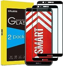 SPARIN [Lot de 2] Verre Trempé Compatible avec Huawei P Smart, Protection Ecran Vitre Film Protection Pour Huawei P Smart, [PAS pour la version 2019] Couverture Complète, Anti-rayures, Noir