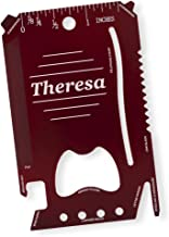 Dimension 9 Theresa - Laser Engraved, Anodized Metal Personalized Wallet Tool