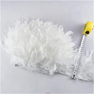 Wholesale 10Meters/Lot Turkey Feather Fringe Trim 4-6inch Marabou Feathers Trimming Skirt Dress Trims Ribbon Feathers for ...