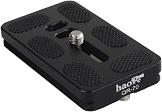 Haoge 70mm QR Quick Release Plate with D-Ring Screw Fits Arca-Swiss Standard for Tripod Ball Head Clamp Camera Lens